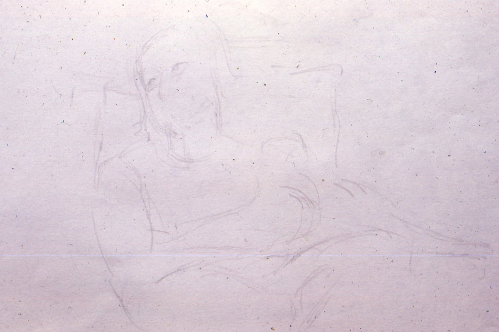 "Drawing, 1969. pencil. 12""x8""approx"