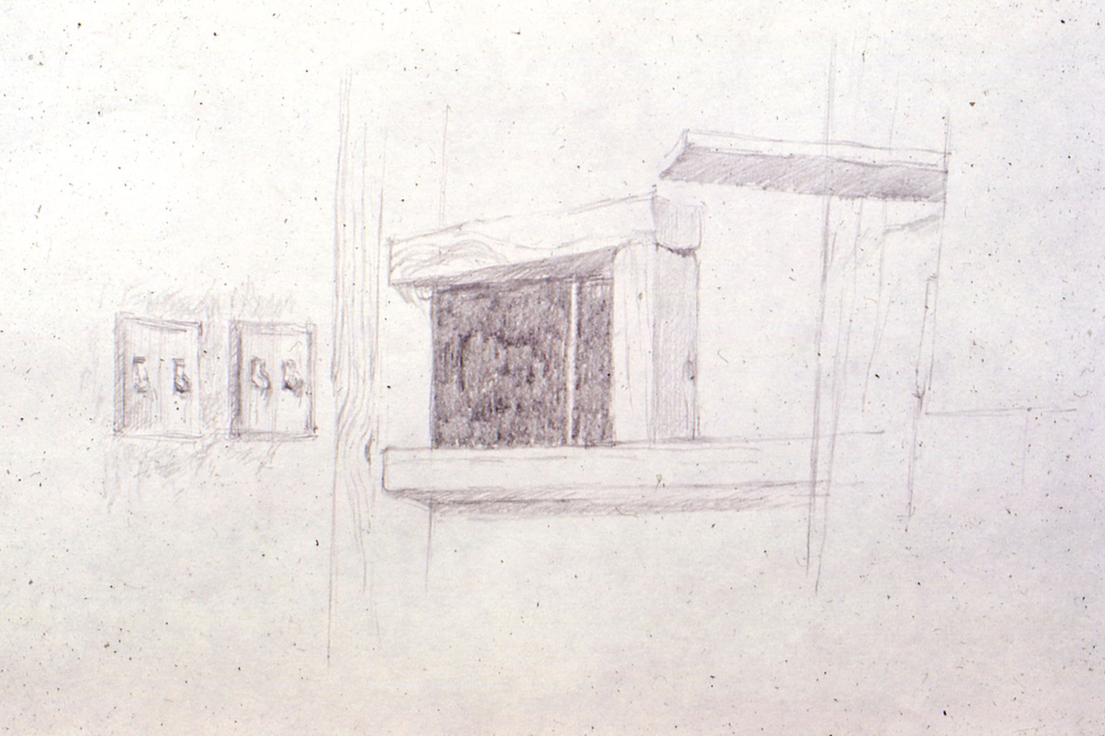 "Drawing, 1969. pencil. 15""x11""approx"