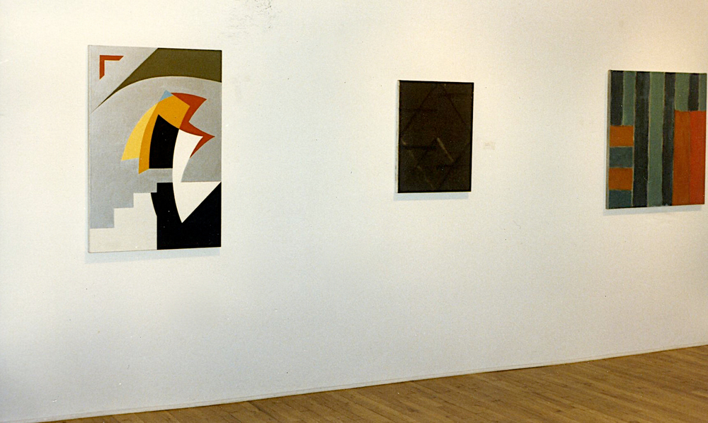"Group exhibition with JG-R's ""Not Jazz"", 1982, oil on linen."