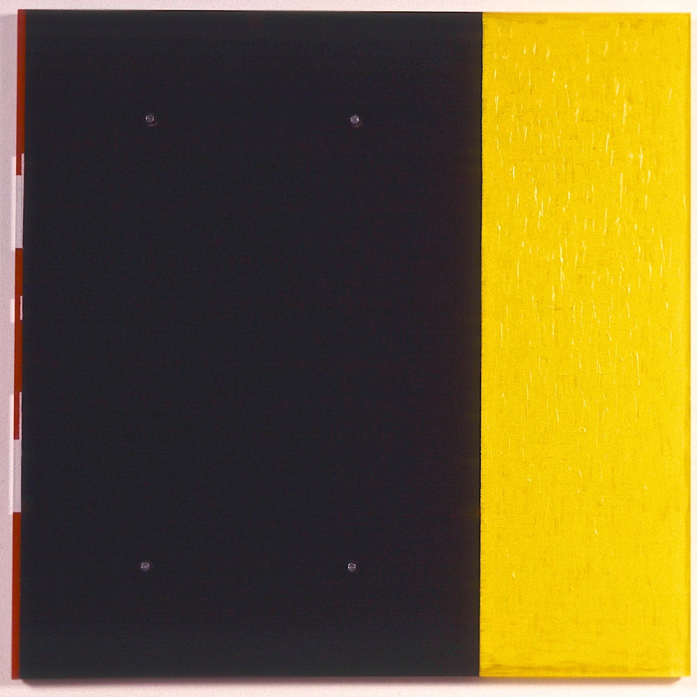 "Untitled, 1991. vinyl on plexi, 28""x28""x7/8"""