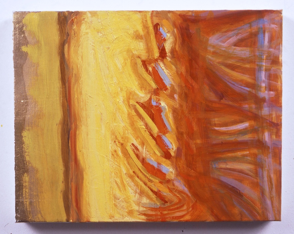 "Untitled, 1999, oil on canvas, 11""x14""x1 1/2"""