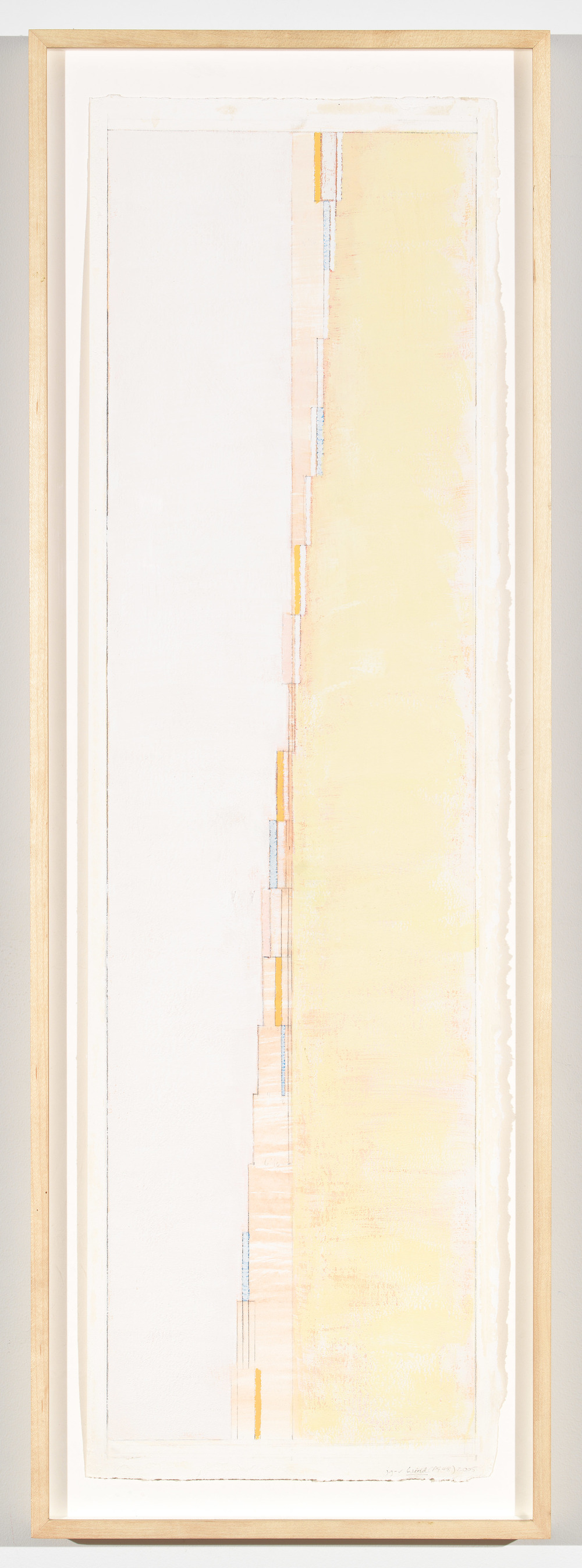 "Wind (PG 52), 2005, 28 ½"" x 8"" (image), 30"" x 8 6/8"" (paper)"