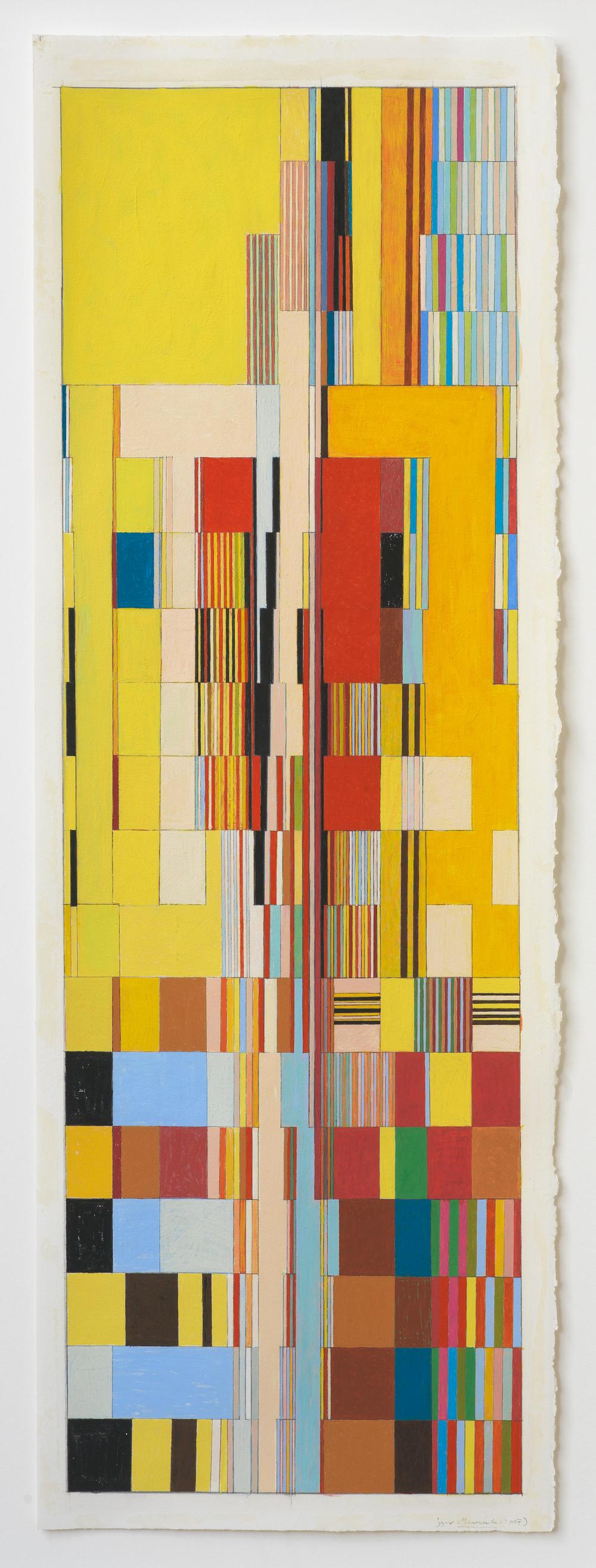 """Munich (PG68), 2007, 30"""" x 10 3/8"""" (paper) , 28 ½"""" 9 ¼"""" (paper)"""