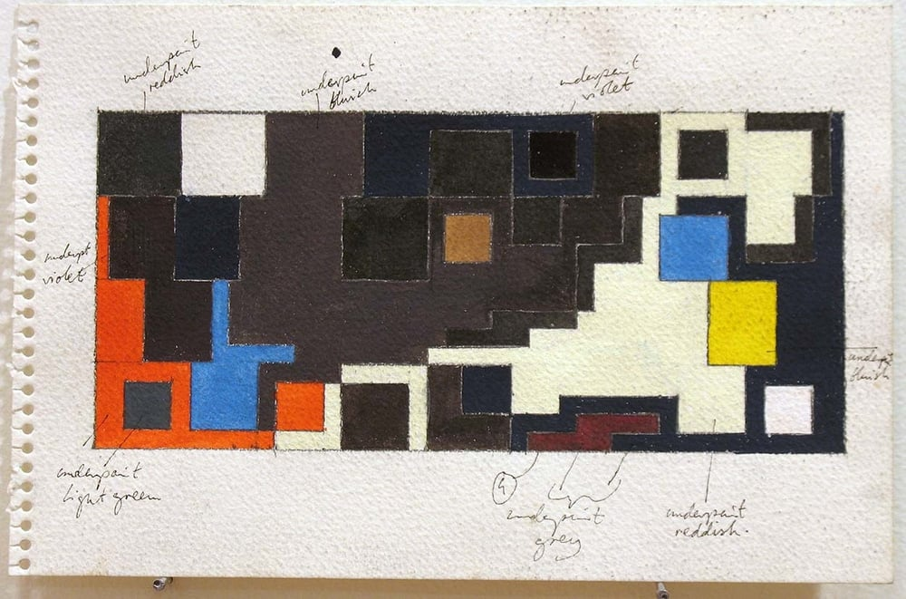JGR. 1978. Study for Eastern Front. Gouache on Paper.jpg