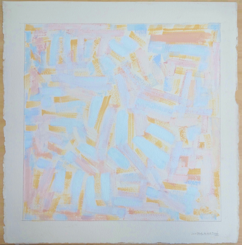 Study for Late Morning (FTDTD) (2014). Gouache on Paper. paper 23.5x23; image 19x19 in.