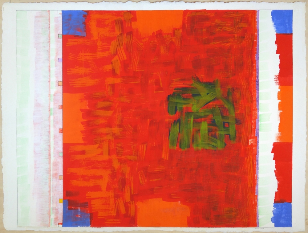 "2001. Gouache on Paper 22""x30"" (paper); 21.75""x27.5"" (image)"