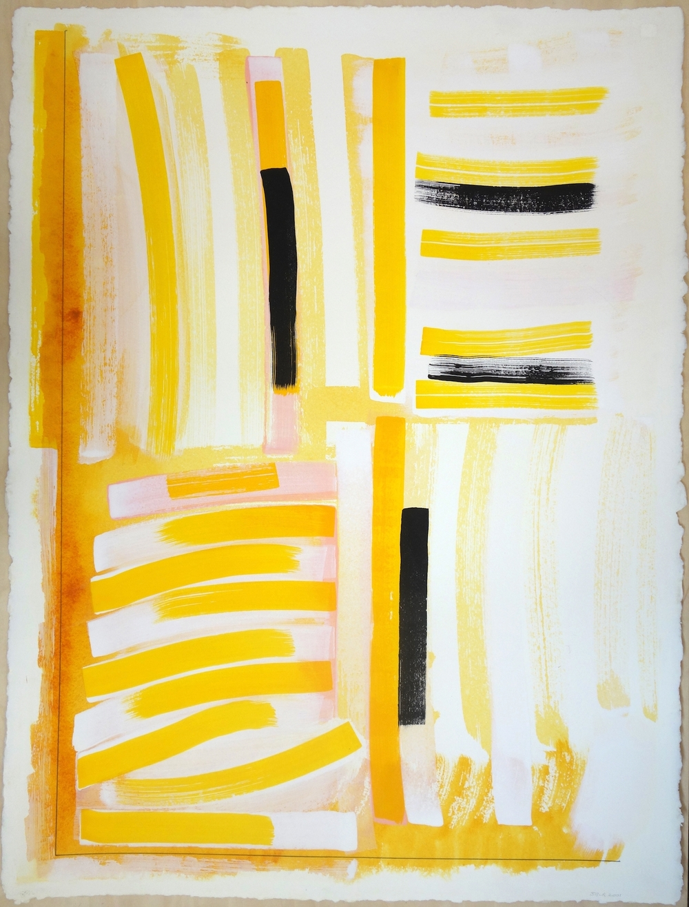 "2001. Gouache on Paper. 30""x22"""