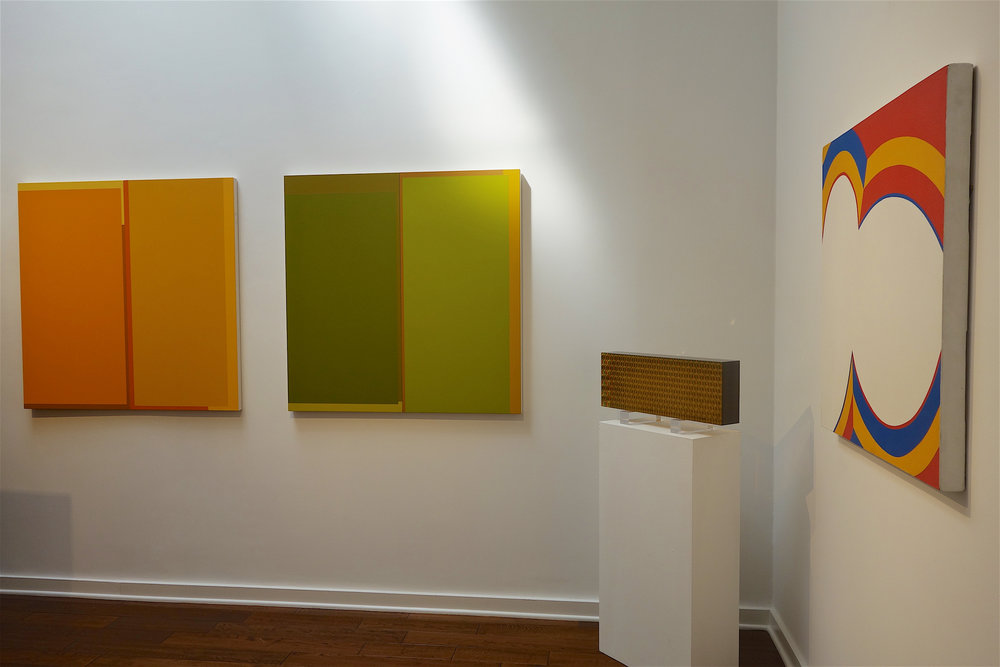 Jeremy Gilbert-Rolfe & LA Abstract, Louis Stern Fine Arts, Installation Shot of Back Room, works by Richard Wilson, Norman Zammitt and June Harwood