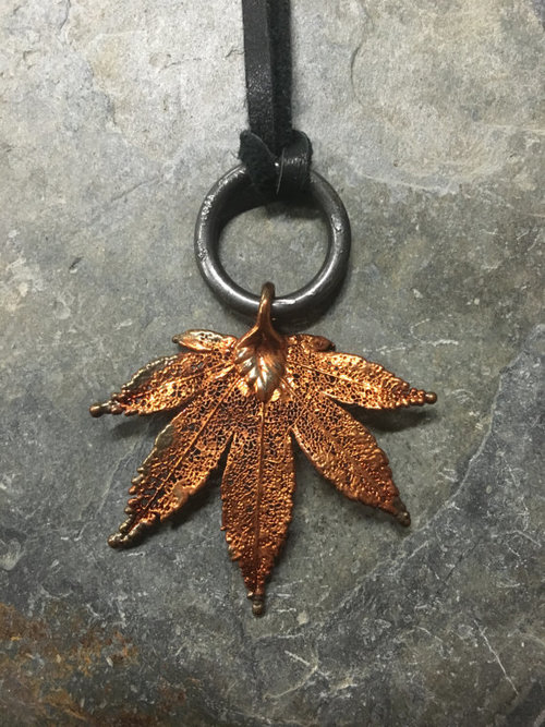 Japanese maple leaf pendant the reliquarium japanese maple leaf pendant aloadofball Gallery