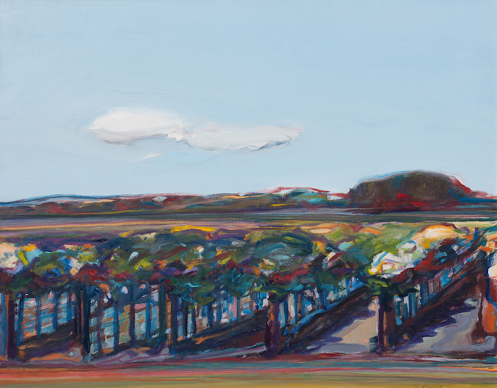 Gregory Kondos  Country Vineyard , 2006 22 x 28 inches, oil on canvas