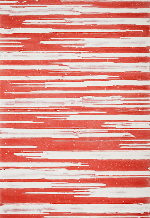 Mark Harrington  Canyon-Red , 2012 78 x 54 inches, acrylic on linen