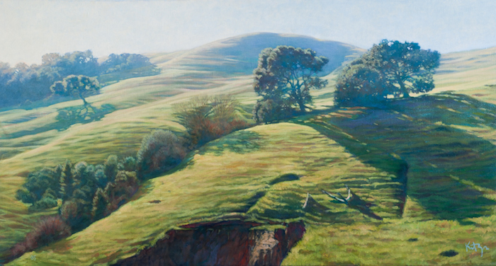 David Kreitzer  Perfume Canyon Hills ,1980 oil on canvas