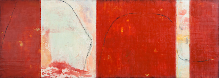Tracy Adams  Imago 27 , 2012 26 x 72 inches, encaustic on wood panel