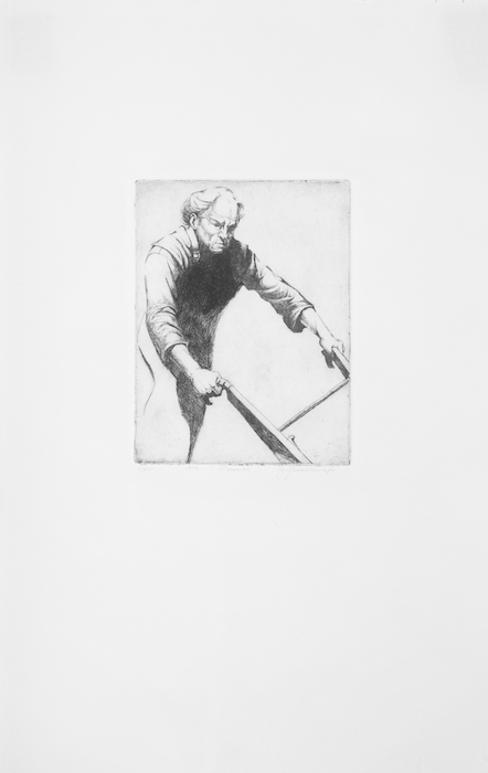 Jasper Walker  Plowman , 1997 18 x 28 1/2 inches, etching