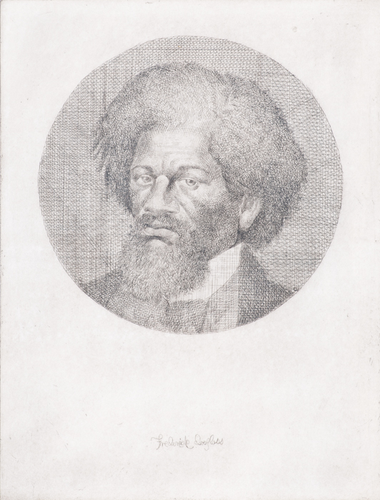 Charles White  Portrait of Fredrick Douglass , 1988 etching