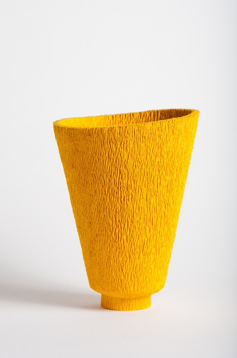 Dewey Garrett  Nonchalance , 2004 12 x 7 inches, dyed yellow palm