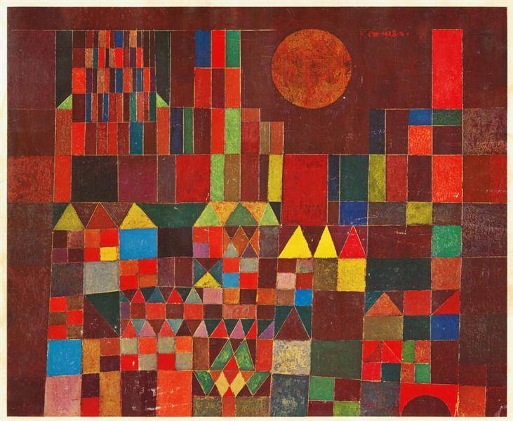 Paul Klee, Castle and Sun, 1928, oil on canvas