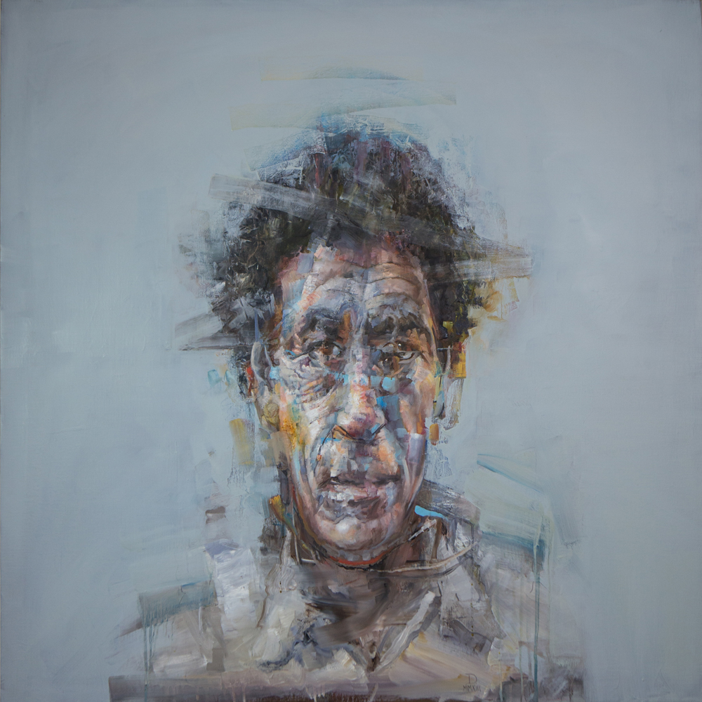 Stephen Douglas,  Rumination: Case Study #2,  2013, oil on linen, 48 x 48 inches. BMoA Permanent Collection 2015.02.11