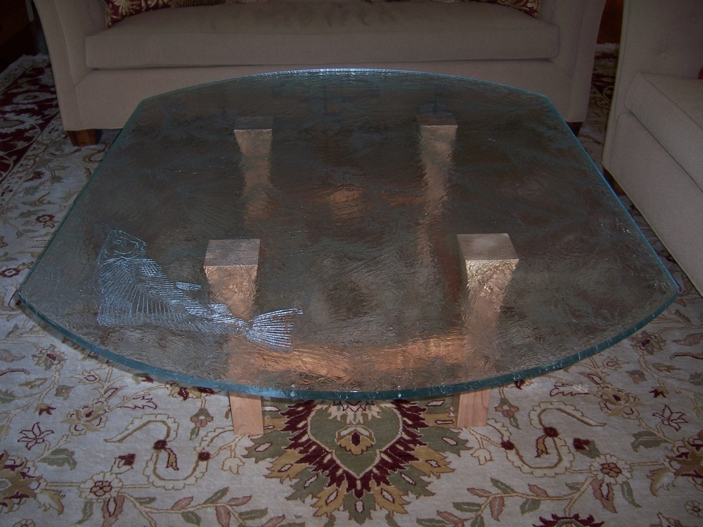 Fossil Fish table done with Duncan - for Clemetts 2009.JPG