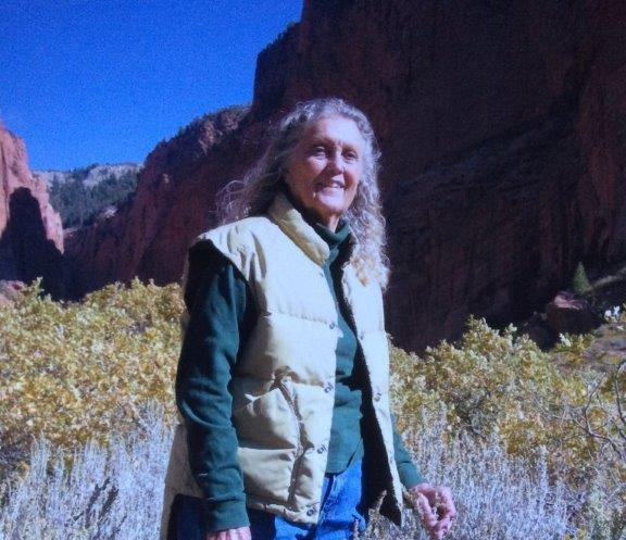 June with Kolob Canyon in the background, a few weeks before she lost her battle with cancer