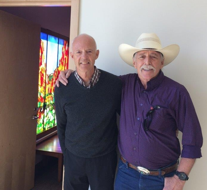 Stan and Dennis who commissioned the window in memory of his wife June.