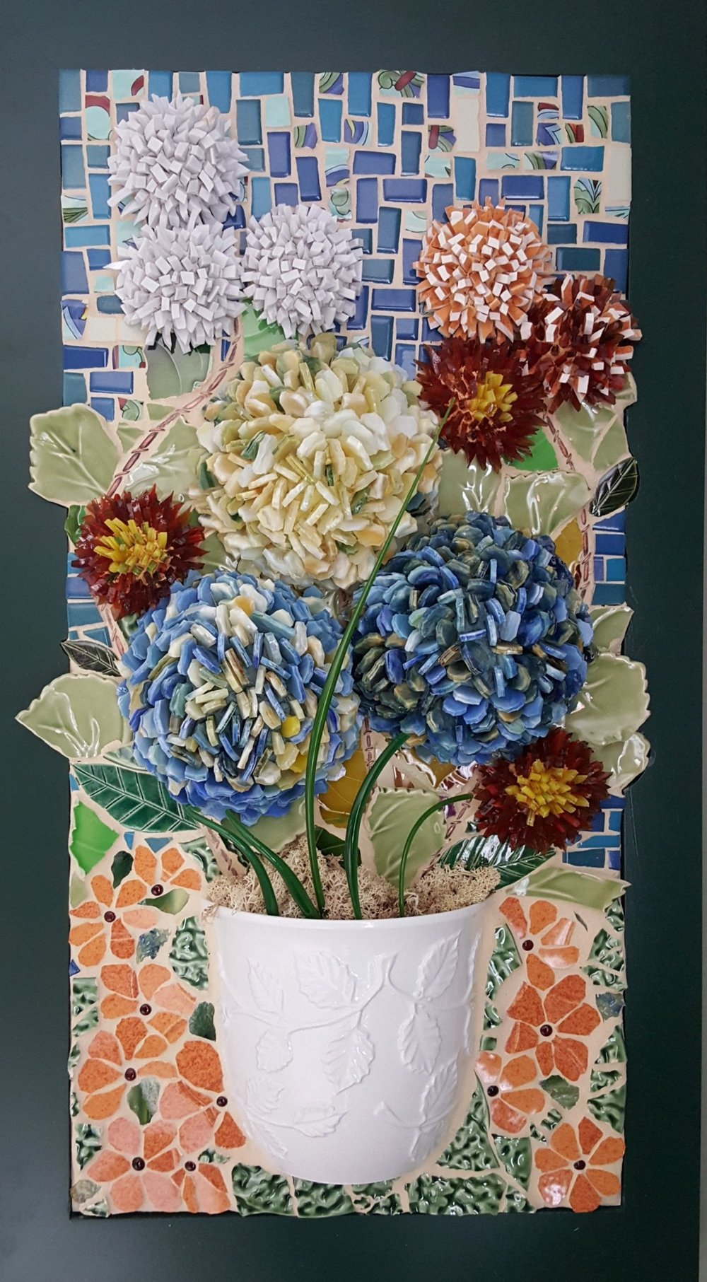 Ceramic & Glass 3d Floral Mosaic.jpg