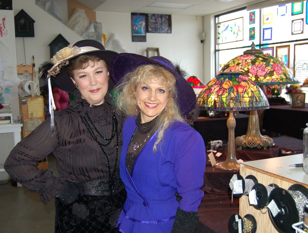 2008 Tifanny Lamp Class Instructors, Nancy Alexander and Tami Bogdanoff