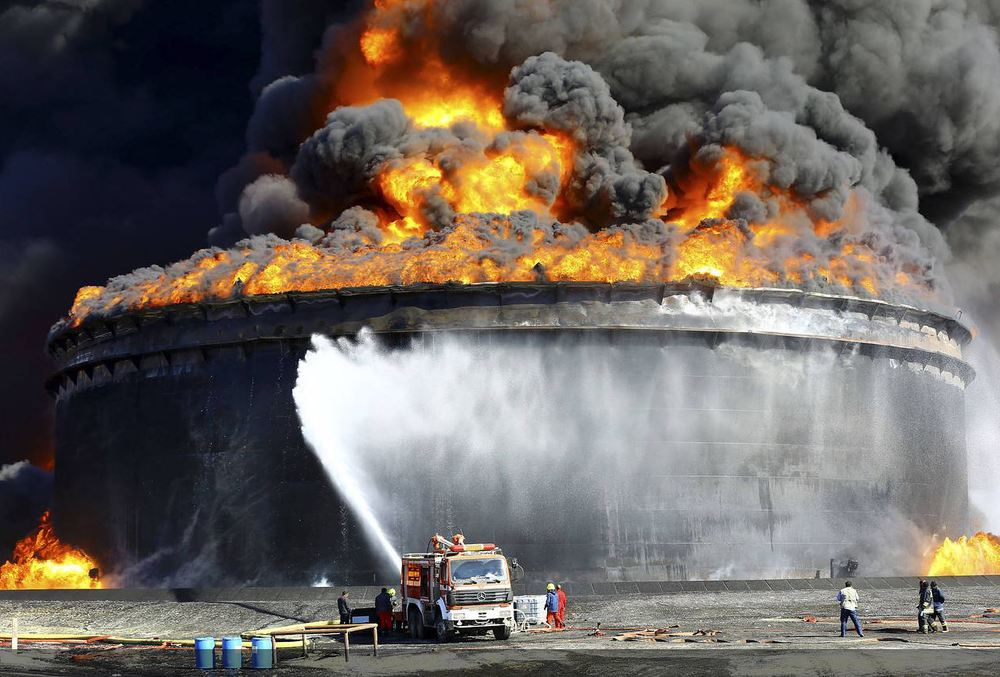 Lybian Oil Refinery Fire