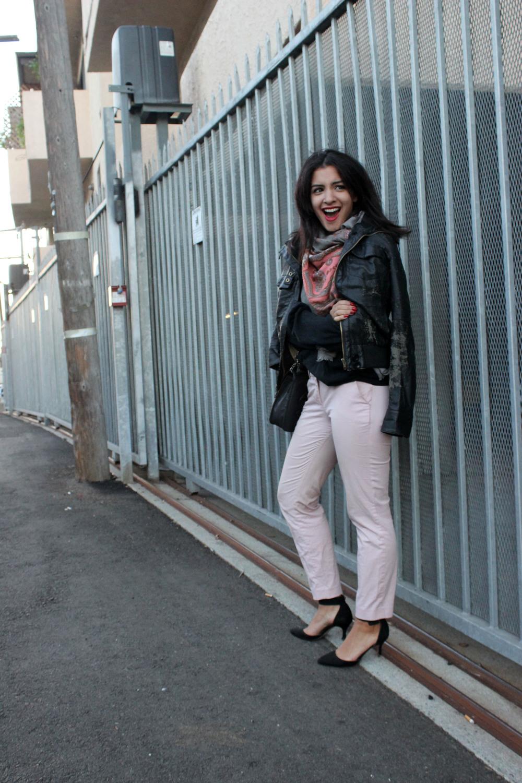 Sweater & Pants: J. Crew Shoes: Zara Scarf: Vintage