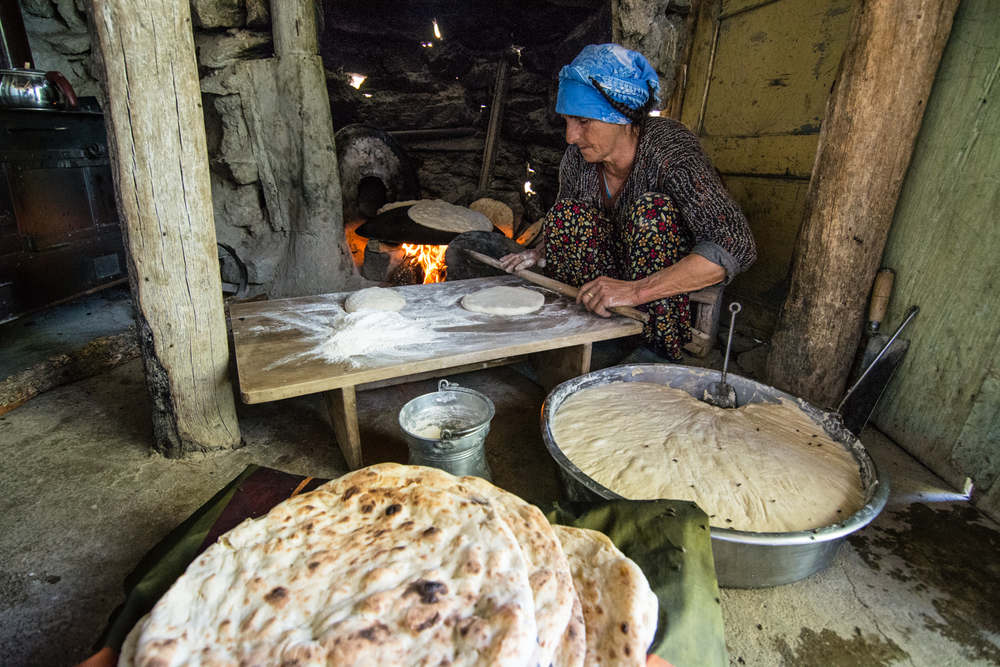 Most families in Munzur still make at least some of their own food - baking their own bread; harvesting honey from their own beehives; growing their own vegetables in their garden plots; and making their own butter, cheese, and ayran (a yogurt drink) from the milk their animals produce.