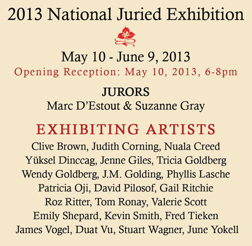 Poster for ACCI gallery exhibit, May - June 2013