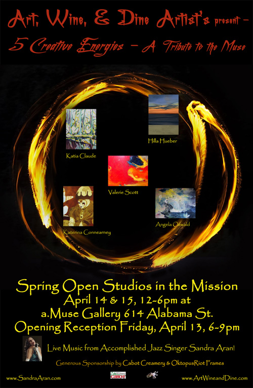Poster for Spring 2012 Mission Open Studios