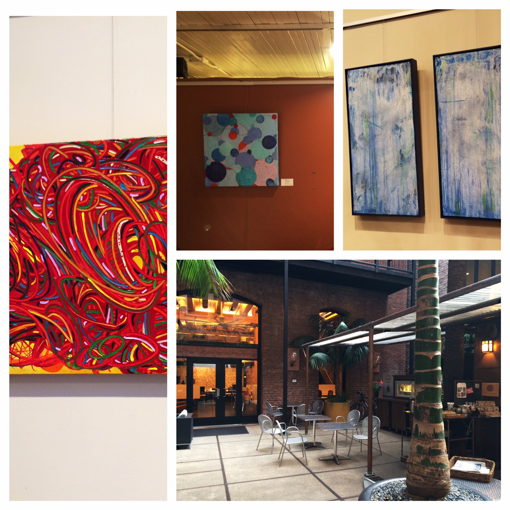 Some photos of VSC's artwork at Jackson Place. On exhibit until July 6th, 2014.