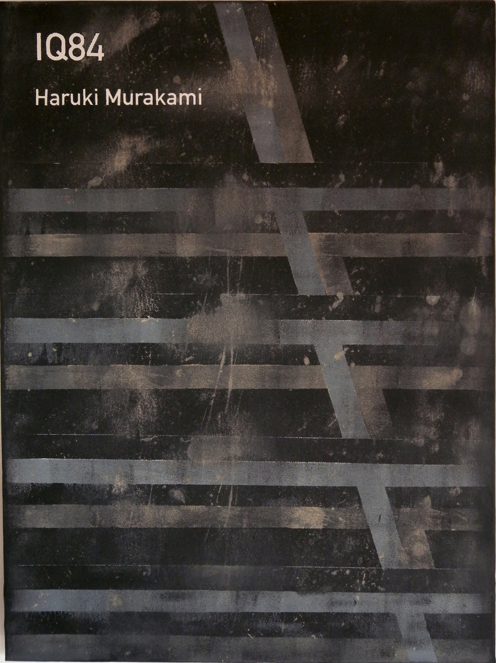 IQ84 / Haruki Murakami  2012 Acrylic on canvas 46 x 61 x 3.5 cm