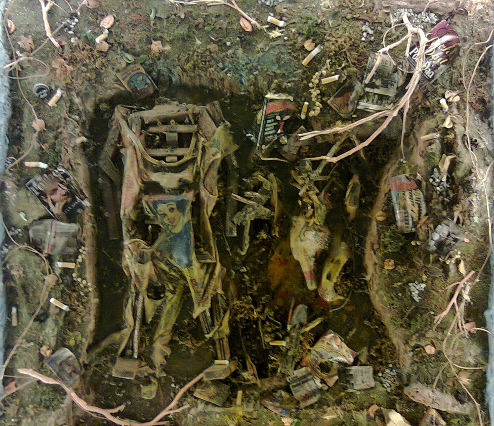 CHUN Kai Qun   The Tragedy of Undoubting  2012 Mixed media H 92 x W 92 x D 20 cm
