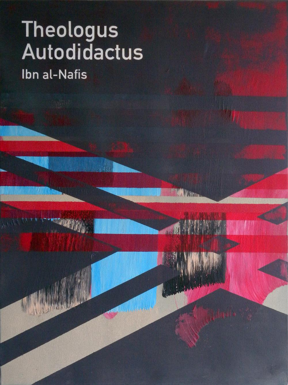 Theologus Autodidactus / Ibn al-Nafis  2014 Acrylic on canvas 46 x 61 x 3.5 cm