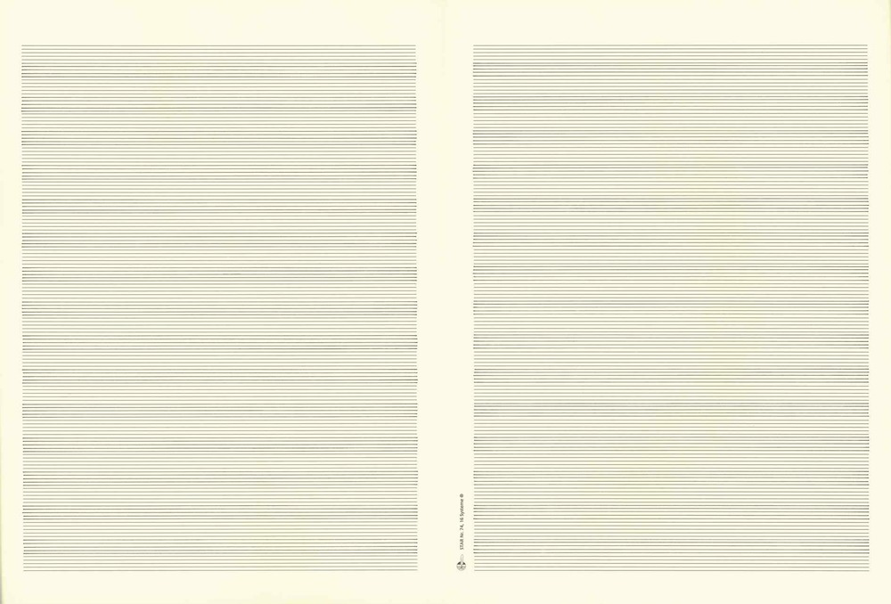 Music Manuscripts No 10  2013 Ink on paper  32.5 x 48 cm (each)