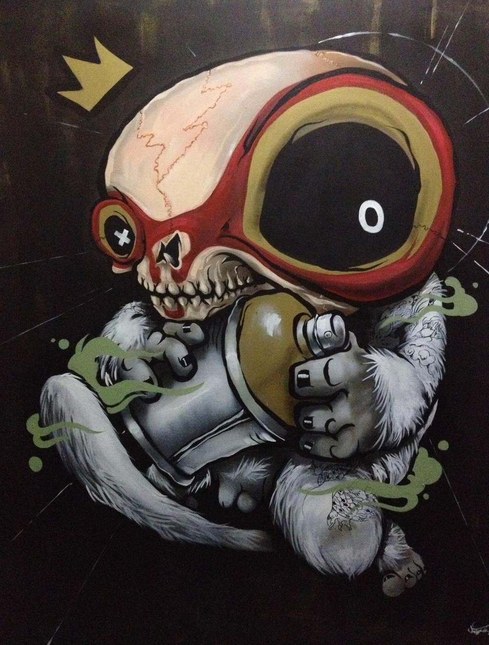 ANTZ  RaSKULL  2012 Mixed medium on canvas 60 x 40""