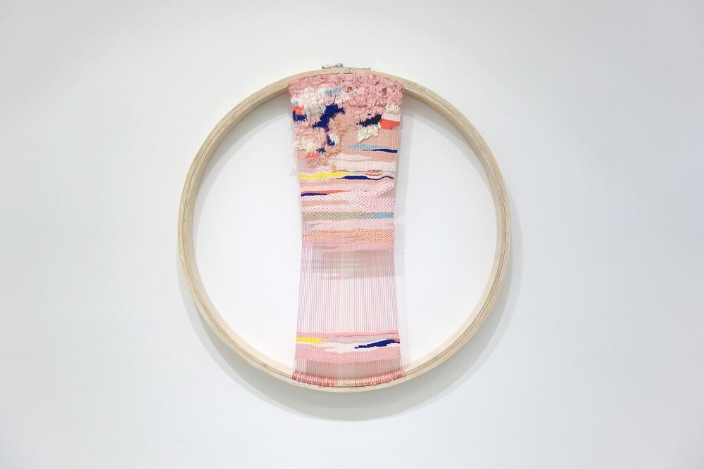 Izziyana Suhaimi, Disquiet II, 2014, Cotton thread woven on wooden hoop, Ø80 cm.jpg