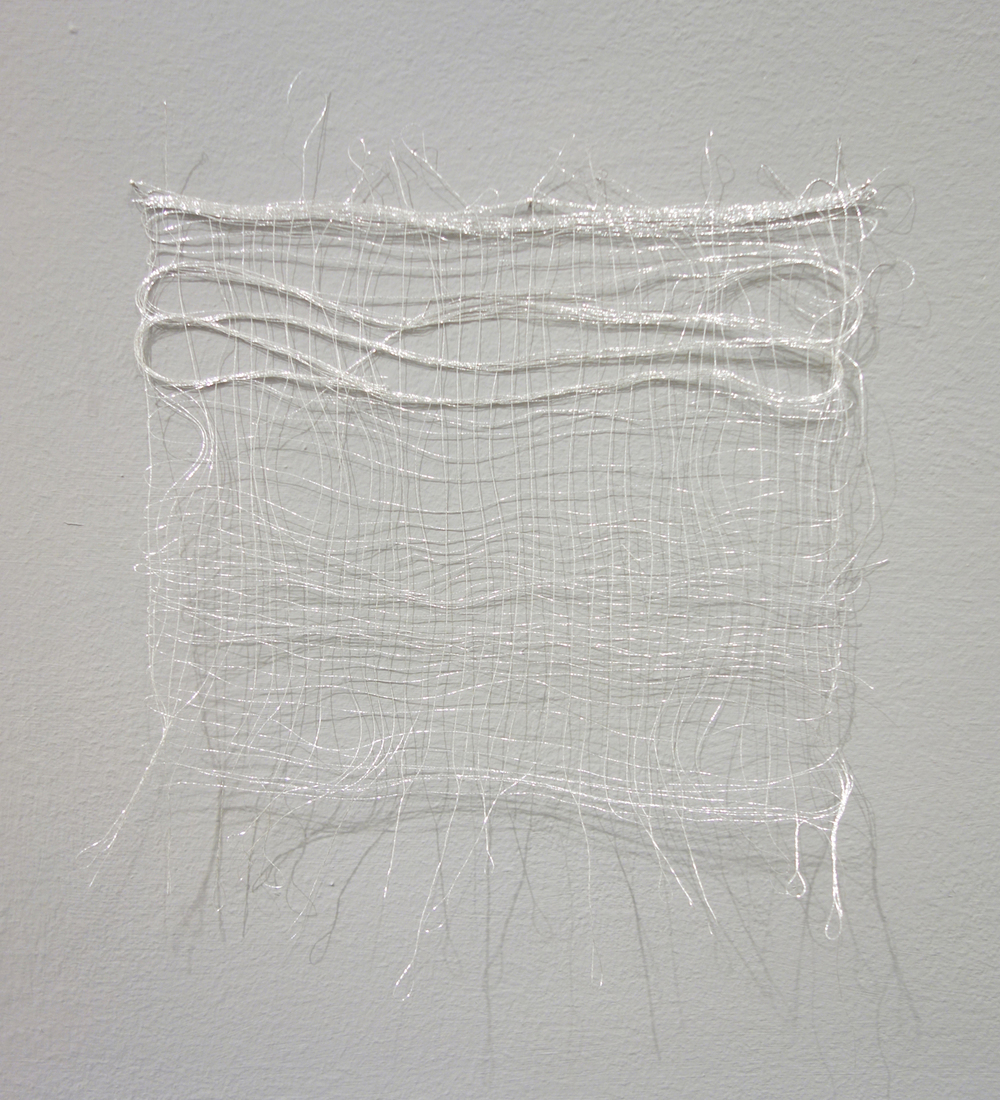 Izziyana Suhaimi, Small Studies of an Everyday Practice I, 2014, Silver thread; woven, H24 x W20 cm.jpg