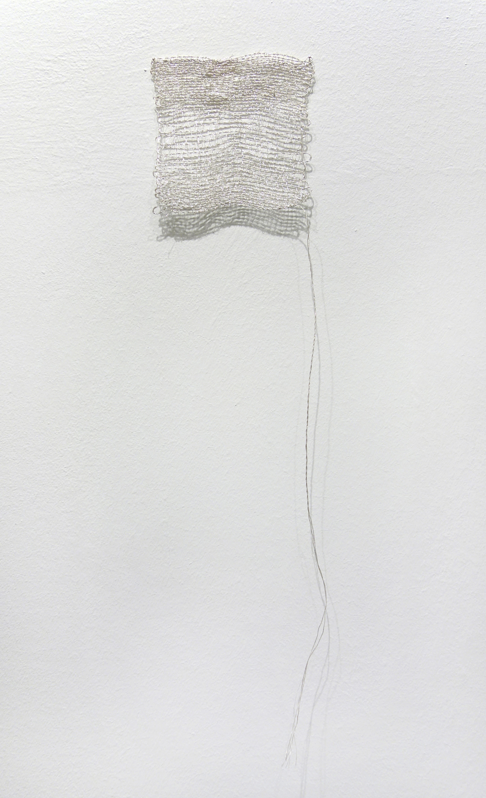 Izziyana Suhaimi, Small Studies of an Everyday Practice IV, 2014, Silver thread; woven, H43 x W11 cm.jpg