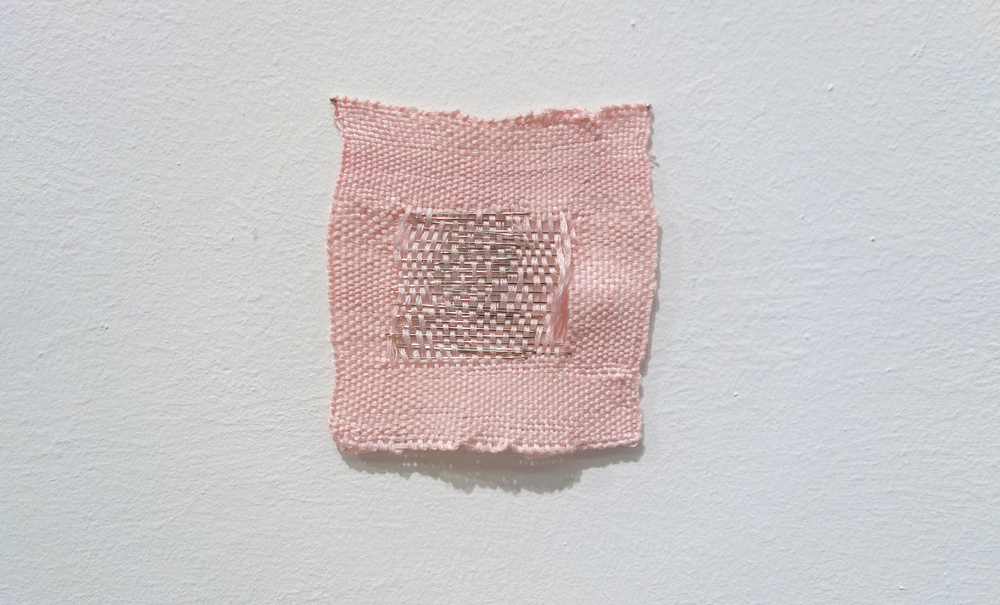 Izziyana Suhaimi, Small Studies of an Everyday Practice IX, 2014, Cotton thread and stainless steel needles; woven, H11 x W11 cm.jpg