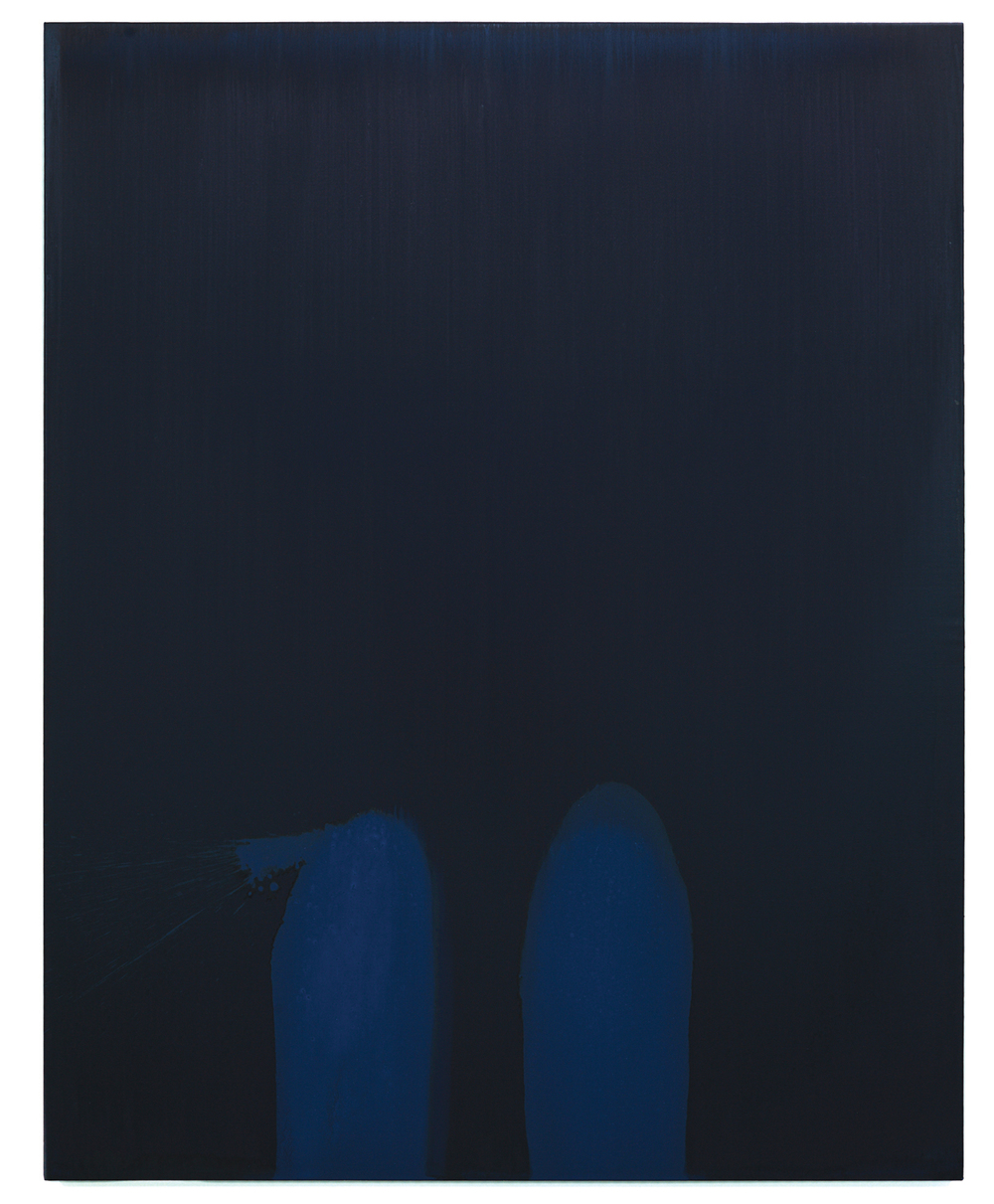 Luke HENG Blue on Blue no.2 2015 Oil on linen H170 x W135 x D5 cm
