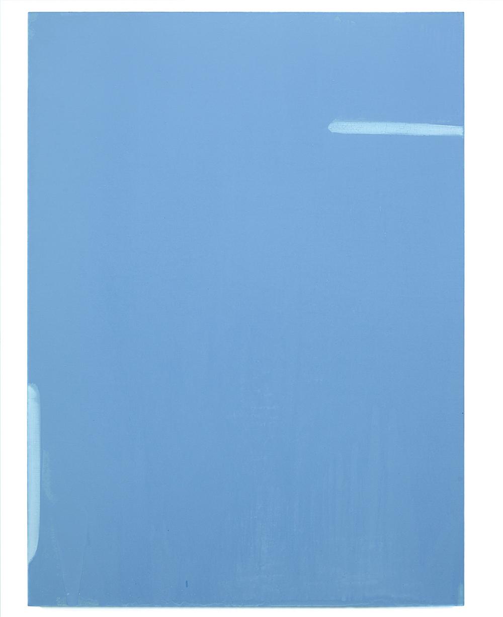 Luke HENG Blue on White (Delft) no.3 2015 Oil on linen H130 x W95 xD5 cm