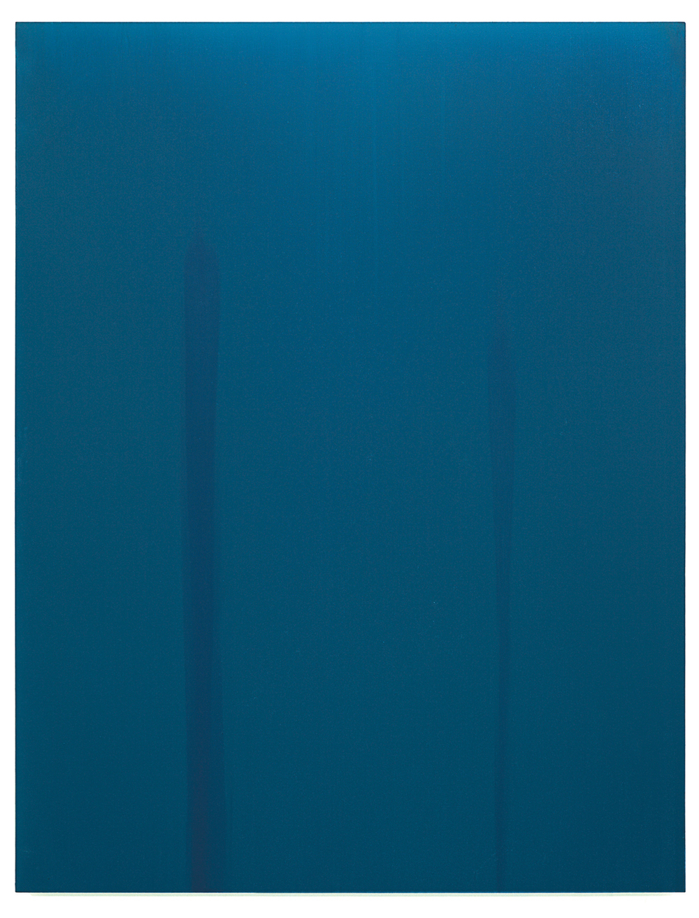 Luke HENG Blue on White no.2 2015 Oil on linen H150 x W115 x D5 cm