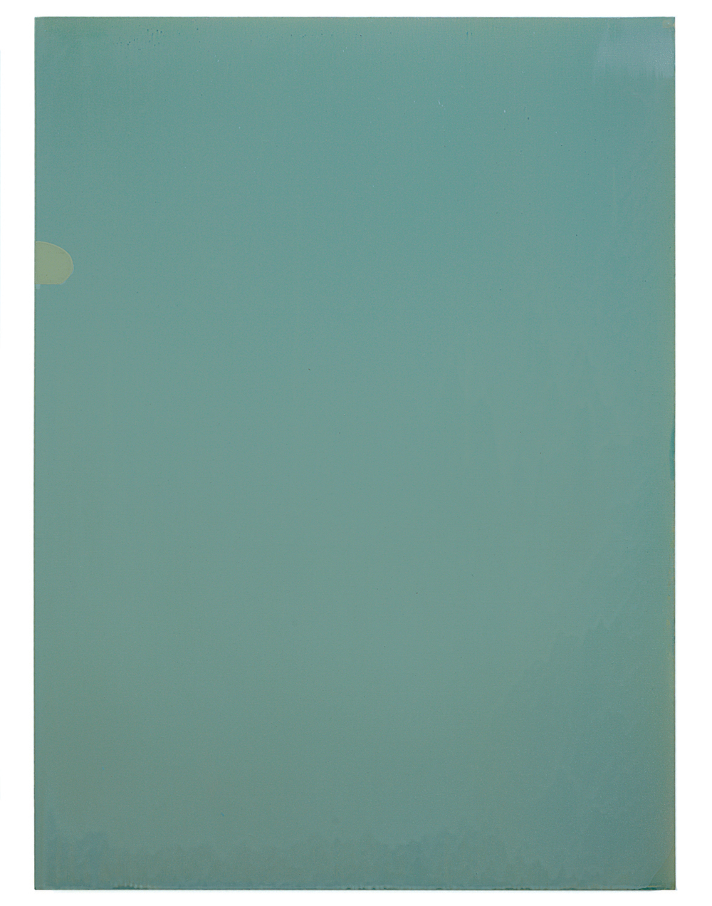 Luke HENG Green on White 2015 Oil on linen H130 x W95 x D5 cm