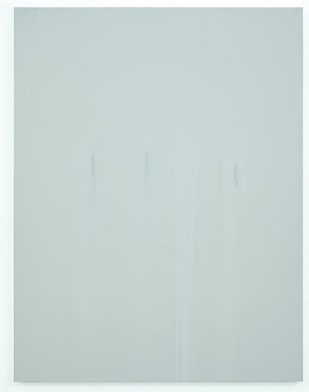 Luke HENG White on Blue 2015 Oil on linen H150 x W115 xD5 cm