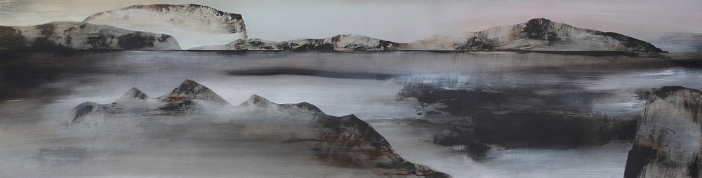 Wyn-Lyn TAN The Far Beyond 2015 Acrylic on canvas H61 x W230 cm