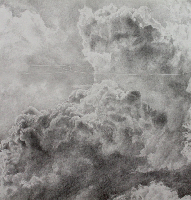 Ashley YEO  Post grieving (clouds)  2013 Graphite on paper H30 x W28 cm