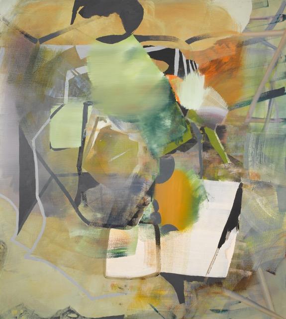 Ian WOO  The Brain is a Scroll  2015 Acrylic on canvas H200 x W100 cm